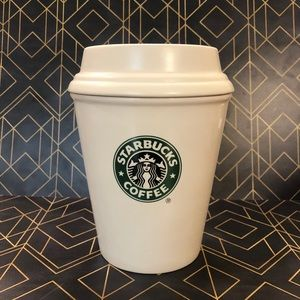 Starbucks Ceramic To Go Cup Coffee Cannister